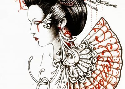 #geisha #illustration #feminism #japan #dark