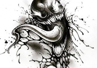 #venom #sketch #dark #villain #spiderman